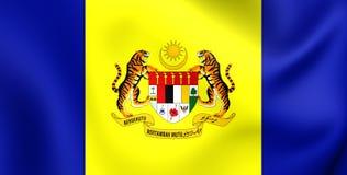 Flagga av Putrajaya, Malaysia Arkivbilder