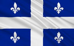 Flagga av Quebec, Kanada royaltyfri illustrationer