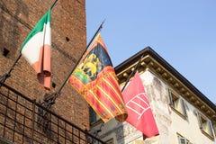 Flagga av regionen av Veneto Fotografering för Bildbyråer