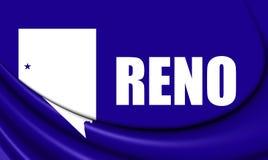 Flagga av Reno Nevada, USA stock illustrationer