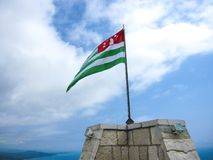 Flagga av republiken av Abchazien Fotografering för Bildbyråer