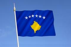 Flagga av republiken av Kosovo Royaltyfri Fotografi