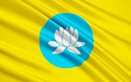 Flagga av republiken av Kalmykia, rysk federation royaltyfri illustrationer