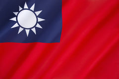 Flagga av Republikenet Kina - Taiwan Arkivfoto