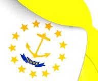 Flagga av Rhode - ö stock illustrationer