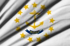 Flagga av Rhode - ö Royaltyfria Bilder