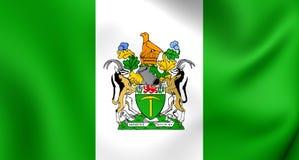 Flagga av Rhodesiaen vektor illustrationer