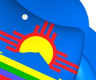Flagga av Roswell, USA royaltyfri illustrationer