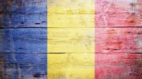 Flagga av Rumänien Fotografering för Bildbyråer