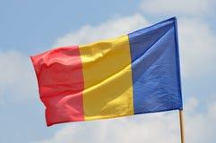 Flagga av Rumänien Arkivbilder