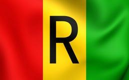 Flagga av Rwanda 1962-2001 vektor illustrationer