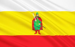 Flagga av Ryazan Oblast, rysk federation Royaltyfri Illustrationer