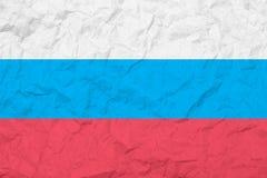 Flagga av rysk federation tappning för stil för illustrationlilja röd gammal texturvägg Urblekt bakgrund Arkivfoton