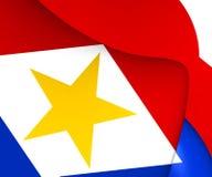 Flagga av Saba royaltyfri illustrationer