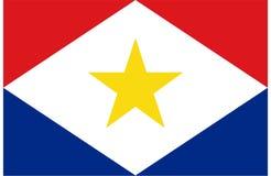 Flagga av Saba Arkivfoto
