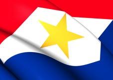 Flagga av Saba stock illustrationer