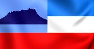 Flagga av Sabahen, Malaysia stock illustrationer