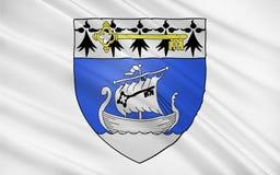 Flagga av Saint Nazaire, Frankrike royaltyfria foton