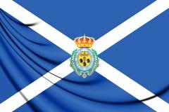 Flagga av Santa Cruz de Tenerife Province, Spanien Royaltyfri Bild