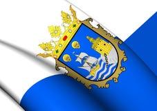Flagga av Santander, Spanien vektor illustrationer