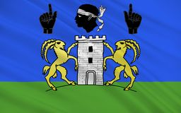 Flagga av Sartene, Frankrike arkivfoto