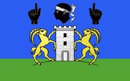 Flagga av Sartene, Frankrike arkivbilder