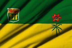 Flagga av Saskatchewan Fotografering för Bildbyråer
