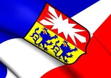 Flagga av Schleswig-Holstein, Tyskland vektor illustrationer