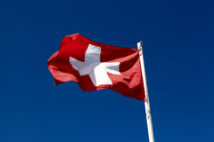 Flagga av Schweitz Royaltyfri Foto