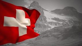 Flagga av Schweiz att vinka vektor illustrationer