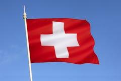 Flagga av Schweiz - Europa Fotografering för Bildbyråer