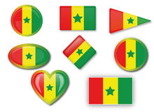 Flagga av Senegal Royaltyfri Fotografi