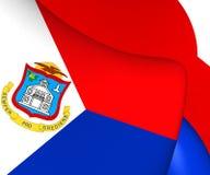 Flagga av Sint Maarten royaltyfri illustrationer