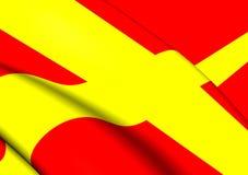 Flagga av Skane, Sverige stock illustrationer