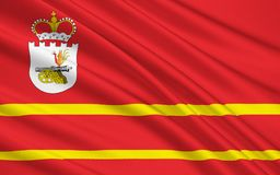 Flagga av Smolensk Oblast, rysk federation Royaltyfri Illustrationer