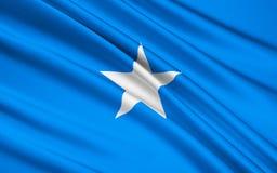 Flagga av Somalia, Mogadishu royaltyfri illustrationer