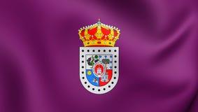Flagga av Soria Province, Spanien royaltyfri illustrationer