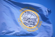 Flagga av South Dakota royaltyfri fotografi