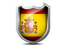 Flagga av Spanien Royaltyfri Fotografi