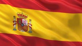Flagga av Spanien den sömlösa öglan stock illustrationer