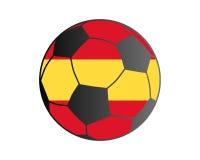 Flagga av Spanien och fotbollbollen vektor illustrationer