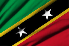 Flagga av St Kitts och Nevis Royaltyfria Foton