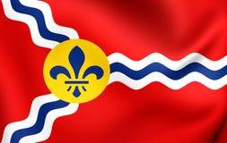 Flagga av St Louis, USA vektor illustrationer