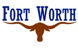 Flagga av staden Fort Worth i Texas, USA arkivfoton