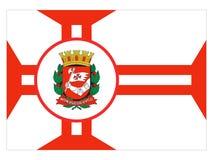 Flagga av staden av Sao Paulo royaltyfri illustrationer
