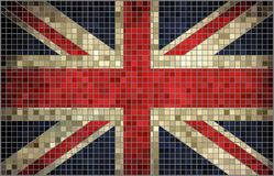 Flagga av Storbritannien, mosaik Royaltyfri Foto