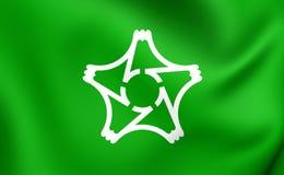 Flagga av Susonoen, Japan vektor illustrationer