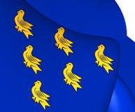 Flagga av Sussex vektor illustrationer