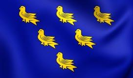 Flagga av Sussexen vektor illustrationer