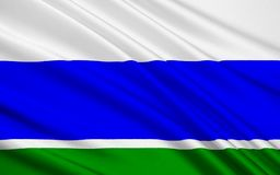 Flagga av Sverdlovsk Oblast, rysk federation vektor illustrationer